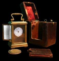 Miniatúrne cestovné hodiny Henry Capt Geneve